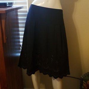 Ann Taylor black mid length skirt